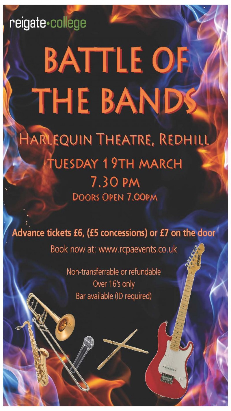 Battle of the Bands, Harlequin Theatre, Redhill